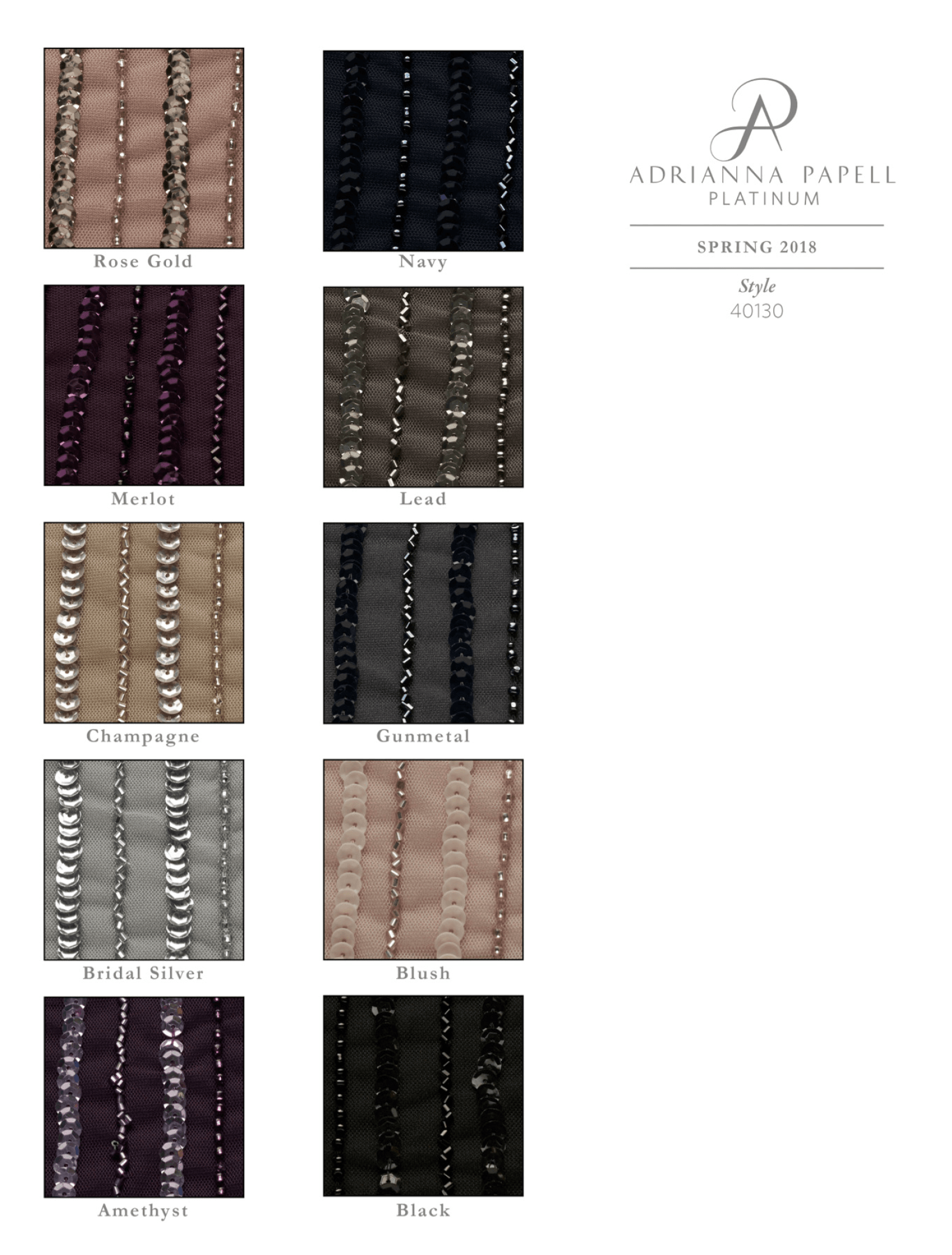 House of Brides Color Swatches