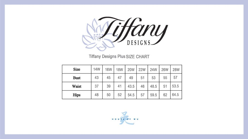 Tiffany Designs Plus Size Chart House Of Wu
